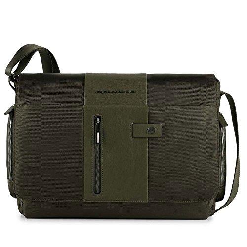 Messenger porta computer e porta iPad®Air/Pro 9,7con tasca porta ombrello/bottiglia e CONNEQU | Piquadro Brief | CA1592BR-Verde