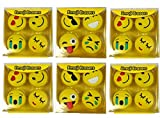 #9: Art Bundle Emoji Erasers & Lipstick Style Eraser for School Going Kids/ Birthday Party Return Gift Set (Emoji- 24 pcs)