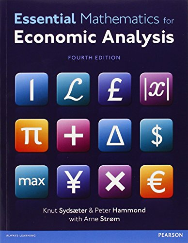 Essential Mathematics for Economic Analysis with MyMathLab Global access card