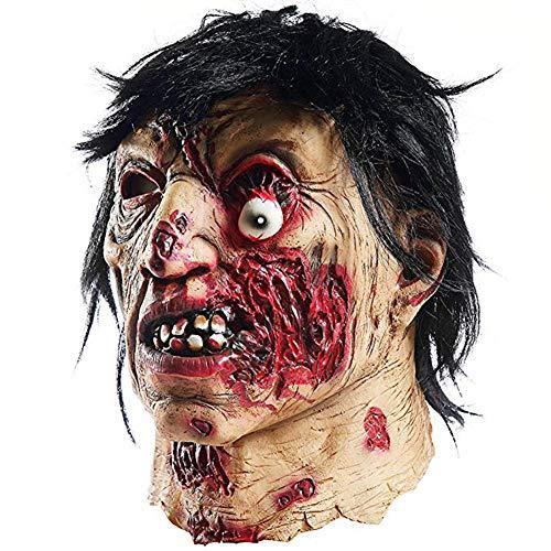 ZAC&LJai Gruselige Halloween Vampir Zombie Maske, Gruselige Kostüm Party Requisiten, Einäugige - Weibliche Dead Clown Kostüm