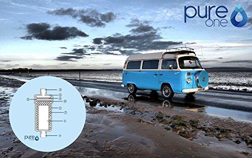 Filtre d'eau pure One tout en un type : womo | la Outdoor Filtre à eau pour germes et bactéries dans l'eau | la Traitement de l'eau et améliorer la qualité de l'eau dans 5 niveaux.
