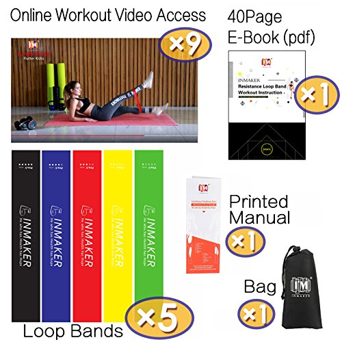 INMAKER-Resistance-Bands-for-Women-and-Men-Exercise-Bands-for-Legs-and-Glutes-Set-of-5-Free-Workout-EBook-Carry-Bag-Online-Videos-and-Manual