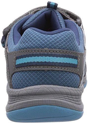 Merrell  ALLOUT BLAZE SANDAL, Sandales sport et outdoor mixte enfant Multicolore - Mehrfarbig (BLUE/GREY)