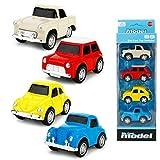 TNA Mini Pull Back Cars Metall Druckguss Set Classic Model Fahrzeug Spielzeug für Kinder ab 3 Jahren, 4 Stück