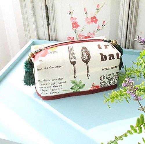 Nordic Kreativität Tuch Tissue Box Cover Tissue Holder Aufbewahrungsbox, waschbar - für Home Car Restaurant Aufbewahrungsbox 20 * 10,5 * 8,5 cm