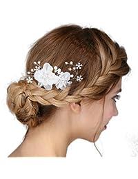 Kleidung & Accessoires Sanft Haarklammer Haarschmuck Braut Weiß Blume Satin Neu Hochzeit Brautfrisur