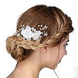 Vintage Argento sposa tiara cristallo strass perla nozze prom capelli fermaglio perle nozze strass perle di nozze gioielli sposa parti cristallo strass perle di nozze