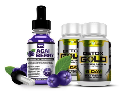 T5 Acai Berry Serum & Detox Gold (1 Month Supply)