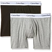 Calvin Klein Men's Boxers Grey Grau (HEATHER GREY/BLACK BHY) Medium