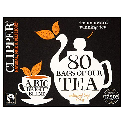 Clipper Fairtrade Everyday 80 Teabags (Pack of 6, Total 480 Teabags)