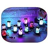 happy event Halloween 12 pcs Kerze mit LED Teelicht Kerzen Dekorationen | Lichterketten Innen Außen Deko Lichter für Partys Garten Hochzeiten Aussen Dekoration