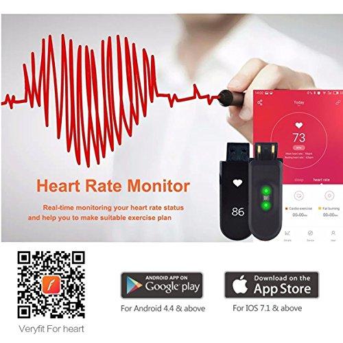 Herzfrequenz Fitness Tracker,CAMTOA ID101 Fitness Armband Pulsuhr Aktivitätstracker Wasserdicht IP67 – Schrittzähler,SMS Anrufe,Kalorienverbrauch,Kamera-Fernbedienung,ID Benachrichtigung,Musiksteuerung und Handy-Suchfunktion(USB Anschluss direkt laden) Schwarz - 7