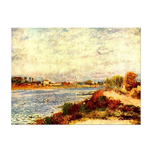 Kunstdruck Poster - Pierre-Auguste Renoir Seine bei Argenteuil 60x40cm ca. A2 - Alte Meister Bild ohne Rahmen