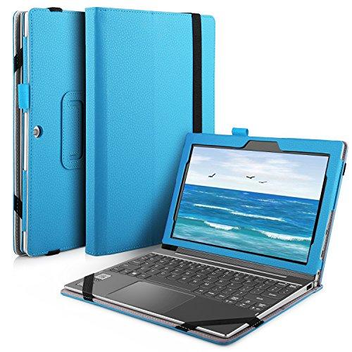 IVSO Lenovo Miix 320 hülle, hochwertiges PU Leder Etui hülle Tasche Case - mit Standfunktion, super 360° Anti-Wrestling, ist für Lenovo Miix 320 Tablet-PC perfekt geeignet (Für Lenovo Miix 320, Blau)