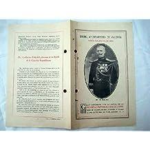 Programa - Program : CONCIERTO POR LA BANDA DE LA GUARDIA REPUBLICANA DE PARIS. Julio 1926. Plaza Toros Valencia