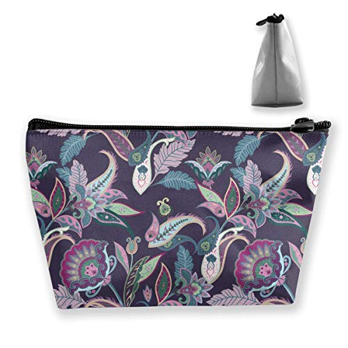Travel Cosmetic Bag Paisley Pattern Tragbare Trapez Make-up Tasche Mäppchen Clutch Bag Paisley Trapez
