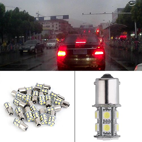Swiftswan 20 STÜCKE Cool White LED Blinker Licht Bremsleuchte 1156 1157 13 Led's SMD5050 (Farbe: Cool White)