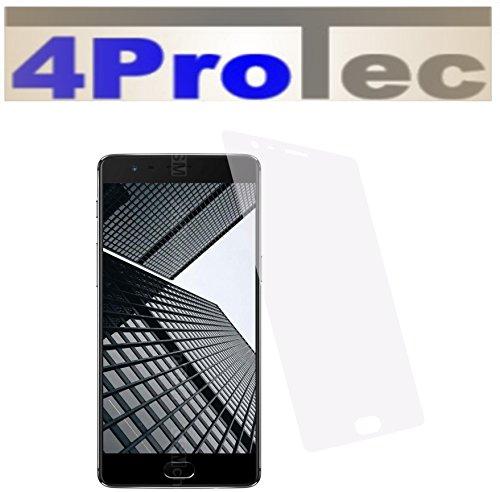4ProTec 2 Stück GEHÄRTETE ANTIREFLEX Bildschirmschutzfolie für OnePlus 3T Displayschutzfolie