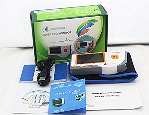 HNCS EKG Monitor Tragbares, Elektrokardiogramm Herz Monitor 30s Schnelles PC-180B EKG ErkennungSoftware und USB Kabel