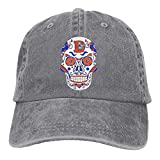 Denver Broncos Sugar Skull.png Berretto da Baseball per Adulto Cappello da Cowboy Regolabile Athletic Creazione di ultimo Cappello per Uomo e Donna Multicolor75