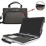 ASUS X541SA X541NA X541UA Housse,2 en 1 spécialement conçu Etui de protection en cuir PU + sac portable Sacoche pour 15.6' ASUS VivoBook Max X541SA X541UA X541NA ordinateur(NON compatible avec Asus X540/X542),Noir