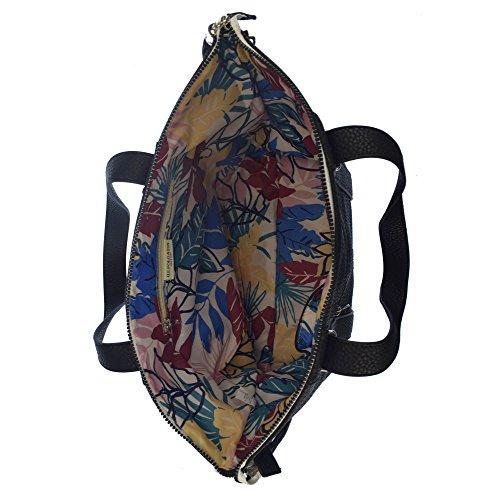 U.S.POLO ASSN. Handtasche mit Schulterriemen Reißverschlusstasche vorne 32-50x14x29 cm Schwarz