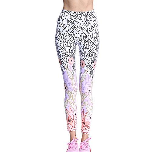 Ming Legging Sport Imprimé Mince Collant Séchage Elastique Fitness/Yoga/Jogging