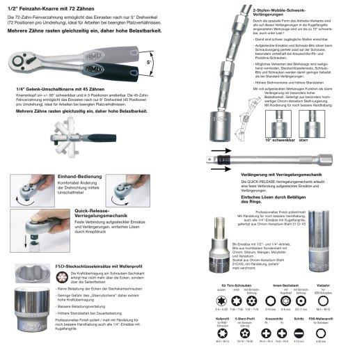 Famex 619-09 Werkzeug Komplettset High-End Qualität in ABS Schalenkoffer 32 L mit 173-teiligem Steckschlüsselsatz - 7