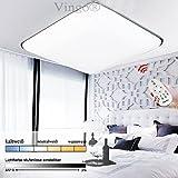 VINGO 36W Dimmbar LED Deckenlampe Alu-matt Energiespar Deckenleuchte Badlampe für Küche Wohnzimmer