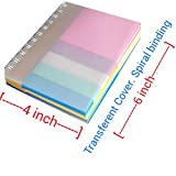 #9: Gts Spiral sticky notes. 450 sheets approx. 3x3 inch 5 colours X 50no & 0.75X3 inch X 4 colour 50 approx