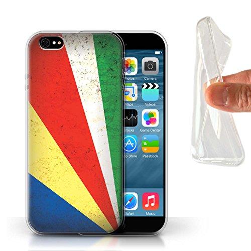 Stuff4 Gel TPU Hülle / Case für Apple iPhone 8 Plus / Tunesien/Tunesisch Muster / Afrika Flagge Kollektion Seychellen/Seychellen