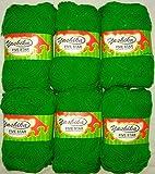 #4: ELA Yashika Best Quality Yarn Green Colour - Pack of 6