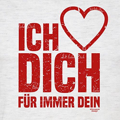 Oster-Geschenk / T-Shirt für Männer mit Print Aufdruck: Ich liebe Dich Farbe: grau Grau