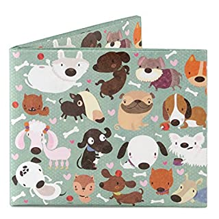 Dynomighty Mighty Tyvek Wallet Brieftasche - HAPPY DOGS by Maria Jose Da Luz - Water, Stain & Tear Resistant