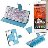 K-S-Trade Flipcover für Swees Godon X589 Schutz Hülle Schutzhülle Flip Cover Handy case Smartphone Handyhülle blau