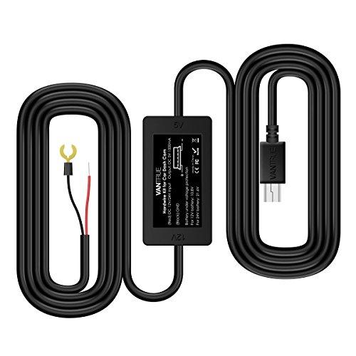 【Aktualisiert】Vantrue Mini Auto Ladegerät Spannungswandler Buck DC Inverter 12V/24V auf 5V für KFZ 13 Fuß lang kompatibel für Auto Dashcam Kamera N2/N2 Pro/N3/X1/X3/R3/V1/C1/A118/A119/G1W/,GPS Navigation, Radar Sensor
