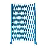 ZENGAI Gartenzaun Ausziehbarer Instant-Zaun Faltbares Haustiertor Zäune Hölzern Draussen Patio-Garten-Rasen 4 Farben 63x71 Zoll (Color : Blue)