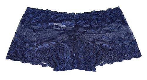 CharmLeaks Damen Panties Lace Slips Spitze Unterwäsche Tangas Unterhosen Mehrpack Kate