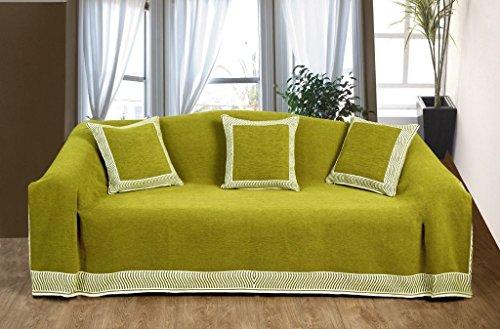 KLiving 50 x 60 cm - 60 pourcent Polyester coton, 40 pourcent Opulence Couvre-lit Ocre/naturel