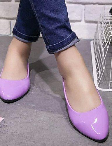 ZQ YYZ Damenschuhe-Ballerinas-Outddor / L?ssig-Kunstleder-Flacher Absatz-Komfort-Schwarz / Blau / Gelb / Rosa / Lila / Rot / Wei? / Beige purple-us6 / eu36 / uk4 / cn36