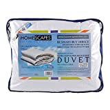 Homescapes - Ultrasoft Super Microfibre - 4.5 Tog - Single Size - The Best Synthetic Duvets designed for And Used By The Best 5 and 7 Star Hotels From Around The World - Anti Allergy - Anti Dustmite - Box Baffel Construction - Washable at Home