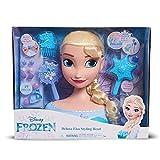 Disney Princesses- Tête à coiffer Deluxe Elsa, FRN79, Multicolore