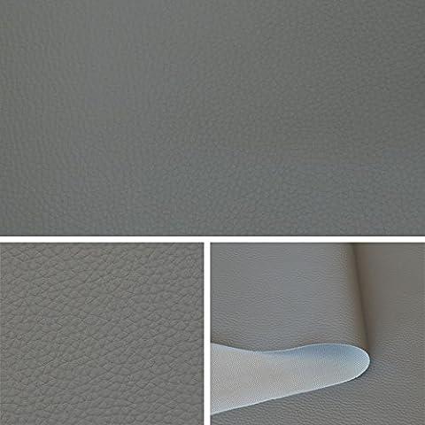 Skaï simili cuir gris tissu au metre, tissu d'ameublement T073