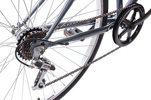 "51sboBdnbXL - Professional Premium Womens 700c Hybrid Commuter Bike 18"" Frame 6 Speed Grey"