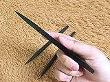 penixon 440c Edelstahl Wurfmesser Set Drei Stück Werfen Messer-Set Fliegende Nadeln (Schwarz)