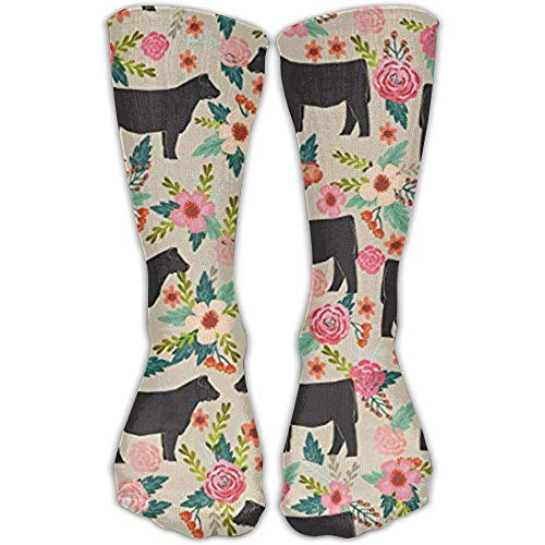 vbcnmbnv TDGEDSFD Show Steer Cows Farm Barn Florals Design Fashion Warm Winter Socks Cotton Crew Socks One Size for Women and Men -