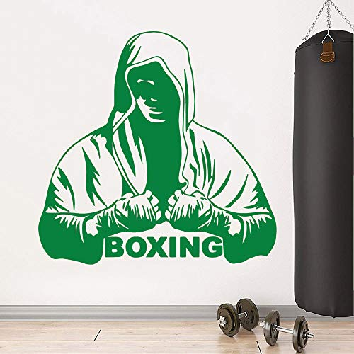 Jiuyaomai Pegatina de Pared de Vinilo de Boxeo Personalizado de Moda para Sala de Fitness Calcomanías...