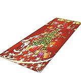 JUNMAONO Weihnachten Teppiche/Teppich/Matte/Fußmatte/Fußmatten/Bodenmatte/Bodenfliese/Schmutzmatten/Fußabtreter/Fußabstreifer/Fußbodenmatte/Sauberlaufmatte/Schmutzfangmatte (50cm×80cm)