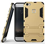 Vivo X Play 5 Case, Ziaon(TM) [Kickstand Feature] Heavy Duty Hybrid Dual Layer Armor Defender Full Body Protective Case Cover for Vivo X Play 5 (Gold)