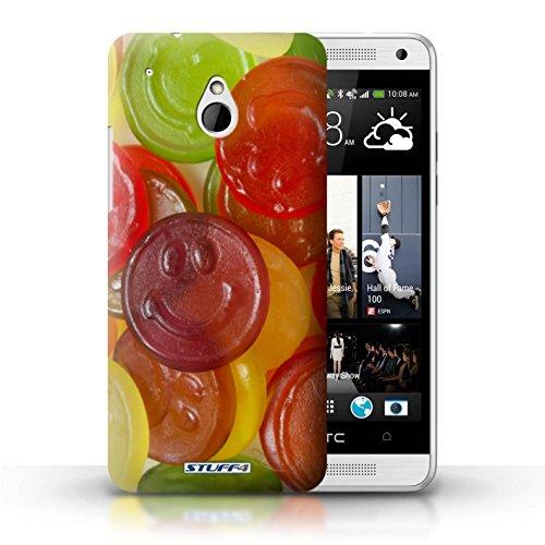 Kobalt® Imprimé Etui / Coque pour HTC One/1 Mini / Smarties conception / Série Bonbons Jelly Faces